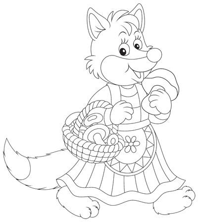 folk tales: Fox mushroomer