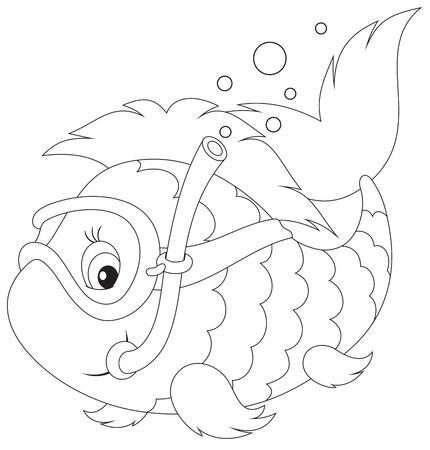 snorkle: Fish diver