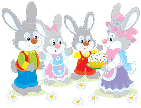 festiveness: Easter cake Illustration