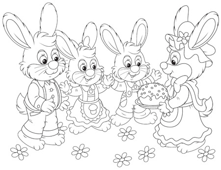 festiveness: Easter cake Illustration