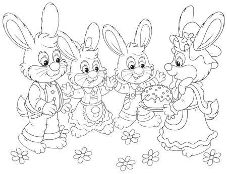 eastertide: Easter cake Illustration