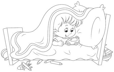 naughty boy: I do not want to sleep Illustration