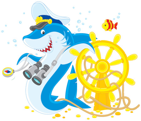 shark captain  Vector