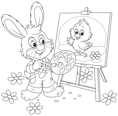 chiken: Easter Bunny drawing