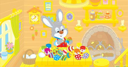 cottontail: Little Bunny paints Easter eggs