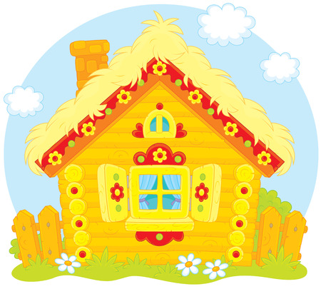 Log hut Stock Vector - 26782926