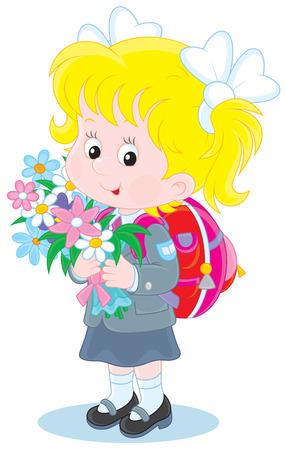 first grader: school girl