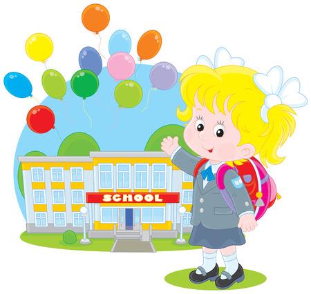 first grader: Schoolgirl