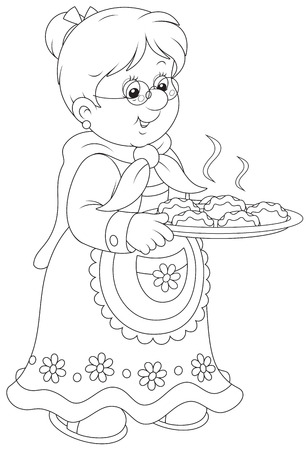 Granny with pies