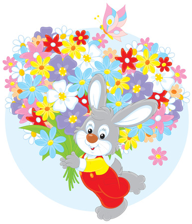 colourfully: Bunny with flowers