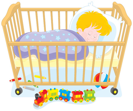 nursery room: Little boy sleeping