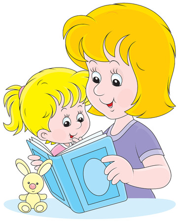mummy: Mother and daughter reading