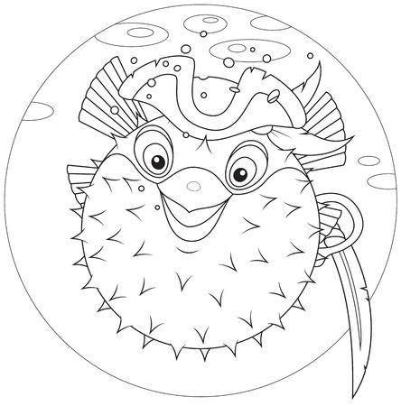blowfish: Puffer pirata peces