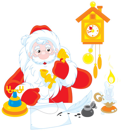 nikolaus: Santa Claus calling on the phone