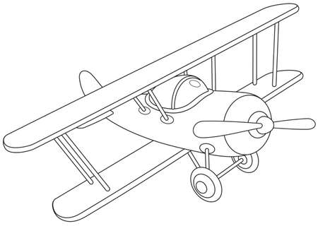 Toy airplane flying Illustration