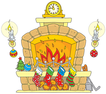 fireplace christmas: Christmas Fireplace