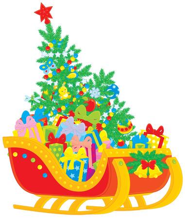 new year s santa claus: Santa s sleigh