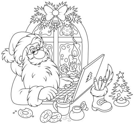 nicholas: Santa Claus with his laptop