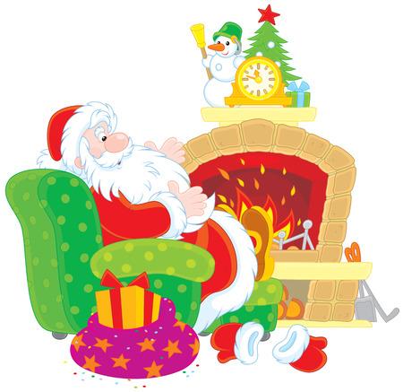 chimney corner: Santa Claus por la chimenea