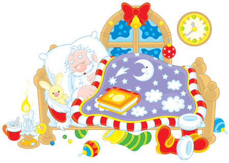 Santa Claus sleeping Vector