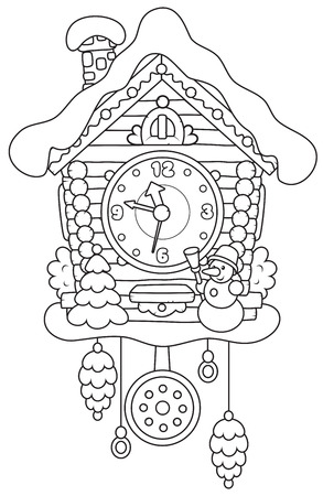 cuckoo clock: Christmas Cuckoo-Clock