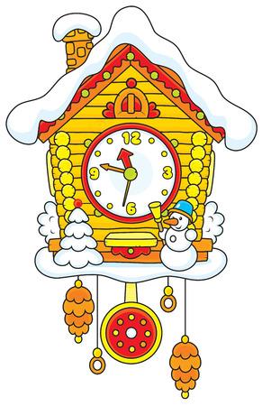 reloj cucu: Navidad Cuco-reloj Vectores