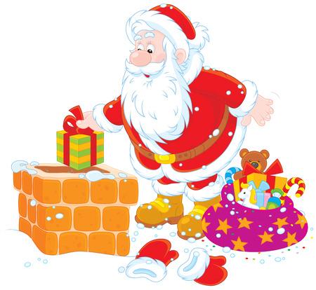 housetop: Santa on a housetop