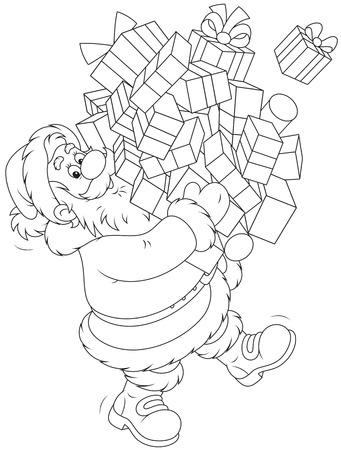 moroz: Santa Claus with Christmas gifts