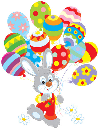 cottontail: Easter Bunny with balloons