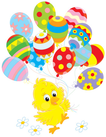 poult: Easter Chick with balloons