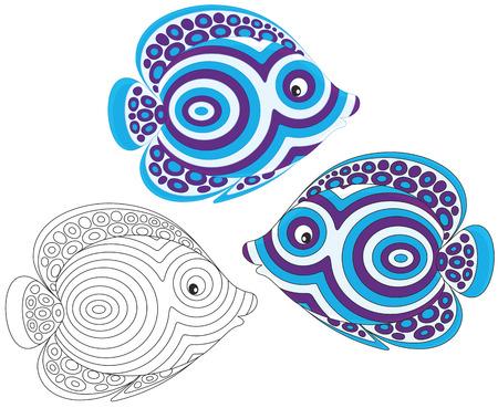 toy fish: Tropical fish Illustration