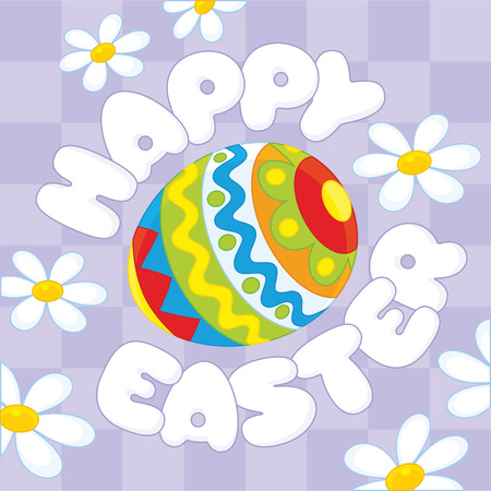 eastertide: Happy Easter Illustration