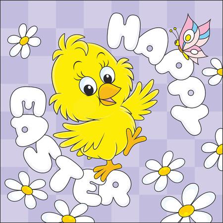 poult: Feliz Pascua Vectores