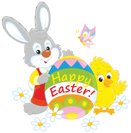 cottontail: Easter Bunny and Chick