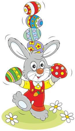 cottontail: Easter Bunny juggler Illustration