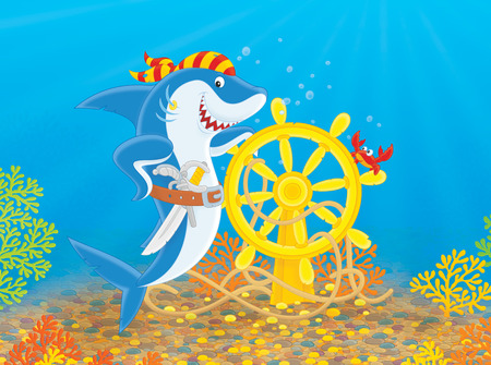 man eater: Pirate Shark
