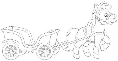 nag: Pony with a cart Illustration