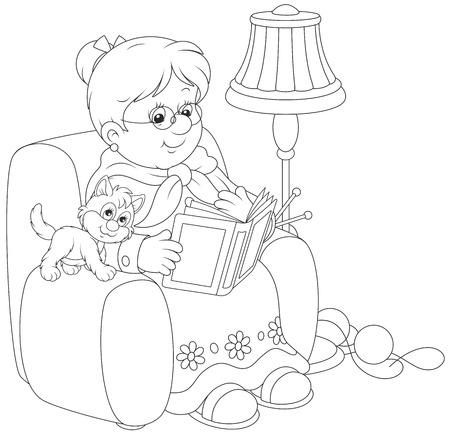 reading lamp: Granny reading