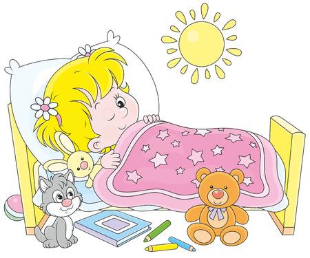 levantandose: Chica despertar