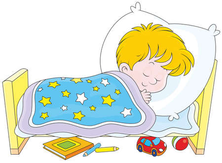 slumberous: Boy sleeping Illustration