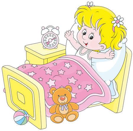 wakening: Girl waking up