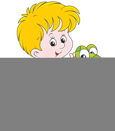 long play: Boy with a rubber ring Illustration