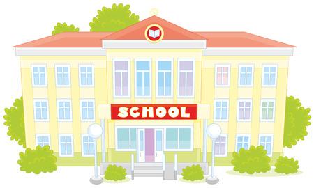 escuela edificio: edificio escolar Vectores