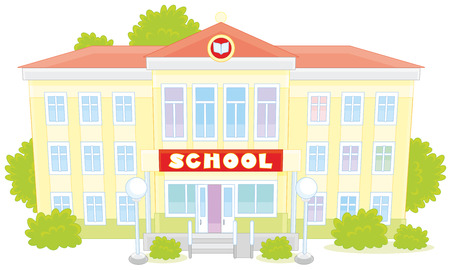 school building: school building Illustration