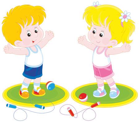 infant school: Morning workout