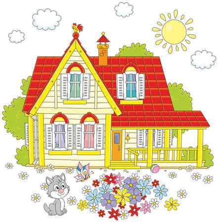 holiday villa: Village house