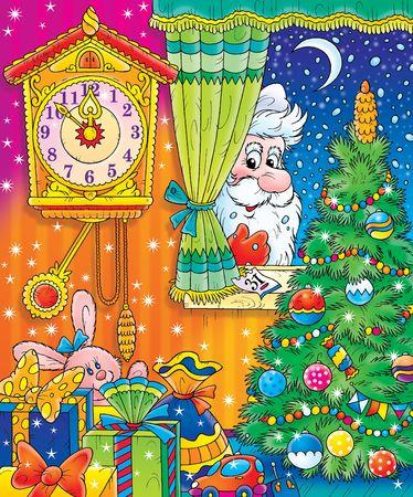cold room: New Year. Christmas. Santa. Stock Photo