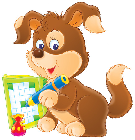 crossword: Puppy�s crossword Stock Photo