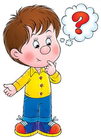 bambini pensierosi: Ragazzo con questione