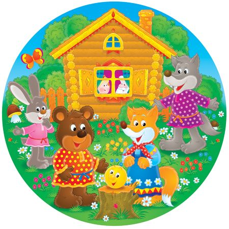 homestead: Bear, fox, rabbit and wolf